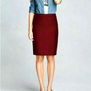 J. Crew The Pencil Skirt Knee Length Wool Blend 12